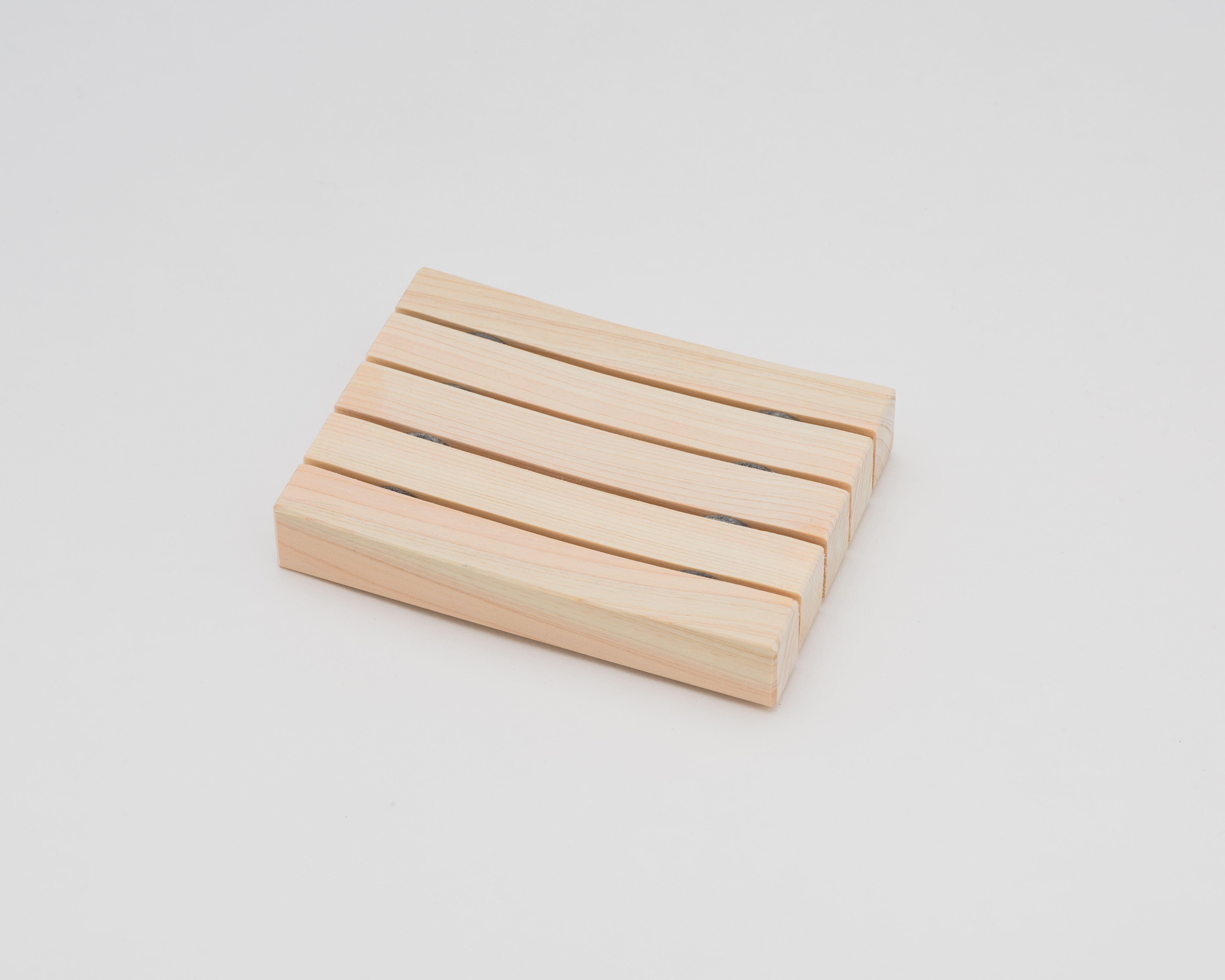 木曽の檜でつくったソープディッシュ04