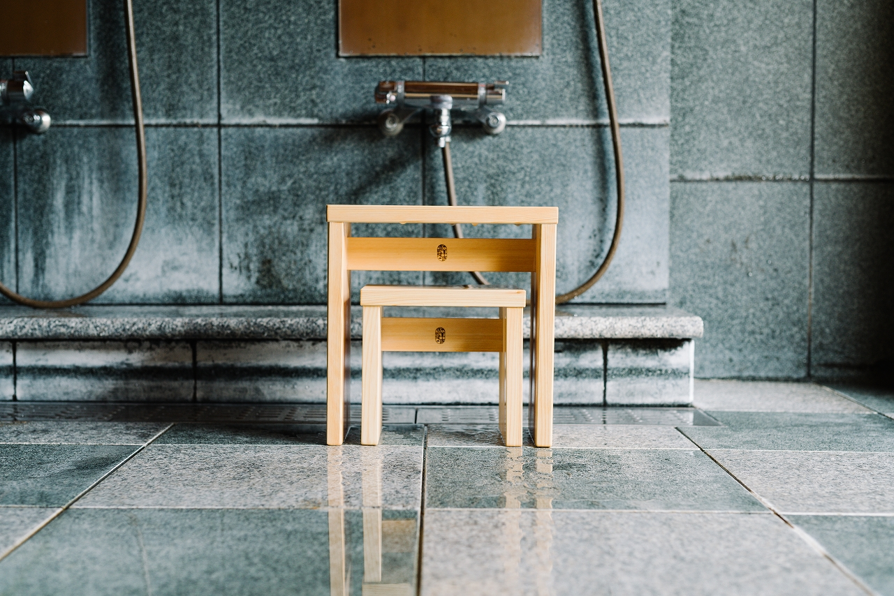 NEW木曽のヒノキでつくった親子風呂椅子01s-