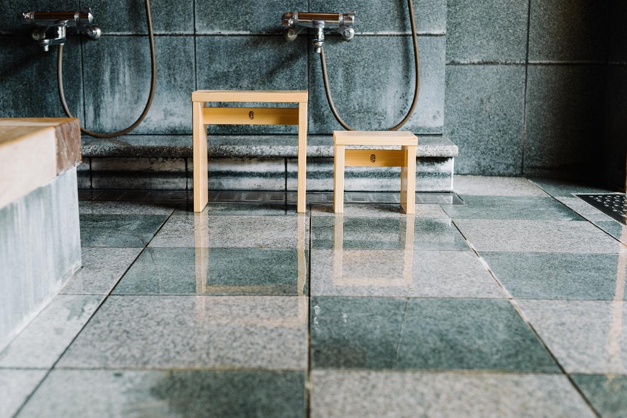 NEW木曽のヒノキでつくった親子風呂椅子02s-